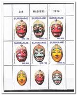Suriname 2016, Postfris MNH, Masks - Suriname