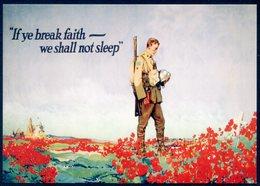 First World War Poster - If Ye Break Faith - We Shall Not Sleep (Frank Lucien Nicolet, 1918)- Poppy, Amapola, Coquelicot - Guerra 1914-18