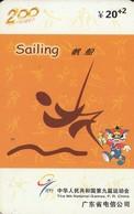 TARJETA TELEFONICA DE CHINA USADA (SAILING, J0111(34-12). (006) - Juegos Olímpicos