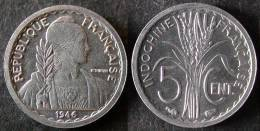 INDOCHINE Très Rare Et étrangement Peu Coté 5 Cent 1946 SUP   PORT OFFERT - Laos