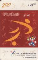TARJETA TELEFONICA DE CHINA USADA (FOOTBALL, J0111(34-14). (007) - Juegos Olímpicos