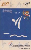 TARJETA TELEFONICA DE CHINA USADA (DIVING, J0111(34-24). (008) - Juegos Olímpicos