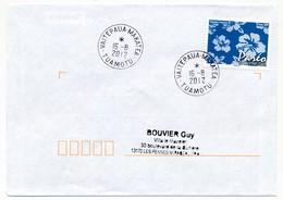 "POLYNESIE FRANCAISE - Enveloppe Affr. Pareo Oblitérée ""VAITEPAUA-MAKATEA / TUAMOTU"" 16-8-2012 - Lettres & Documents"