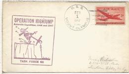 ESTADOS UNIDOS USA  1947 USS MOUNT OLYMPUS ANTARCTIC EXPEDITION BYRD ANTARTIDA - Expediciones Antárticas