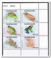 Suriname 2016, Postfris MNH, Frogs - Suriname