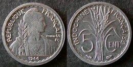 INDOCHINE Très Rare Et étrangement Peu Coté 5 Cent 1946 SUP   PORT OFFERT - Cambodge