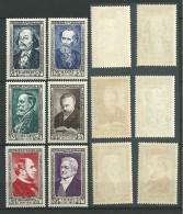 FRANCE: *, N°930 à 935, Série, 1ères Ch. Trés Légères, TB - France