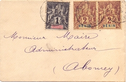 Benin Lettre Affranchie A 5 C Tarif Imprimé Mixte Benin Dahomey Pour Abomey - Briefe U. Dokumente