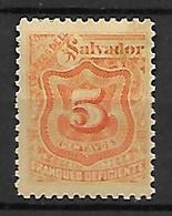 SALVADOR   -    Timbres TAXE   -  1899 .  Y&T N° 36 * - El Salvador