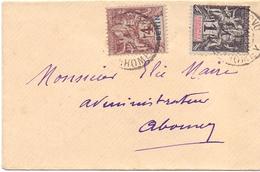 Benin Lettre Affranchie A 5 C Tarif Imprimé Mixte Benin Dahomey De Porto Novo Pour Abomey Transit Cotonou - Lettres & Documents