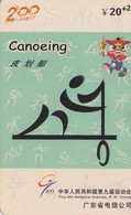 TARJETA TELEFONICA DE CHINA USADA (CANOEING, J0111(34-30). (009) - Jeux Olympiques
