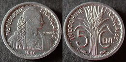 INDOCHINE Très Rare Et étrangement Peu Cotée 5 Cent 1946 B  SUP/ UNC   PORT OFFERT - Camboya