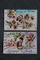 COUPLES - 2 CPSM : Le Langage Des Fleurs. - Couples