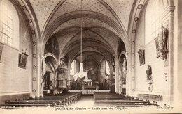 CPA - GONSANS (25) - Aspect De L'intérieur De L'Eglise En 1929 - France