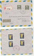 1955 Registered SWEDEN Utforsel Medgiven EXIT GRANTED Post LABEL COVER Airmail To UN USA Multi TB HEALTH United Nations - Sweden