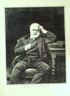 BONNAT L-Portrait De VICTOR HUGO-2516-1890 - Prints & Engravings
