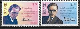 Islande 1988 N° 633/634 Neufs Célébrités - 1944-... Republik