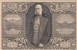KAISER FRANZ JOSEF, JUBILÄUMSKARTE, Roter Stempel 1908, Sehr Gute Erhaltung - Königshäuser
