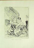 BOURDELLE ANTOINE-L'ARMISTICE De La VICTOIRE-GRAVURE-896-1905 - Estampes & Gravures