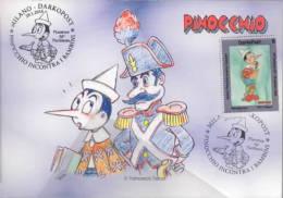 Dabolik Pinocchio E Il Carabiniere Chiudilettere Con Timbro Meccanografico 34° Pantheon Piacenza PCC 881 - Etichette Di Fantasia