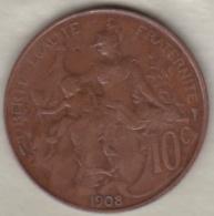 10 Centimes Dupuis 1908 - France