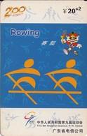 TARJETA TELEFONICA DE CHINA USADA (ROWING, J0111(34-5). (012) - Juegos Olímpicos