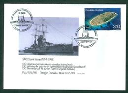 Croatia 2018 Sinking SMS Szent Istvan Ship Cover On Stamp Is Island Prisnjak Near The Sinking Spot - Croatia