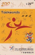 TARJETA TELEFONICA DE CHINA USADA (TAEKWONDO, J0111(34-25). (013) - Juegos Olímpicos