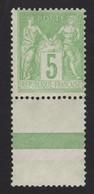 FRANCE Sage  Type III  1898: 5c Vert-jaune  (Y&T 102) Avec Pont Et Bande De Couleur, Neuf**,  Superbe !!! - 1853-1860 Napoleon III