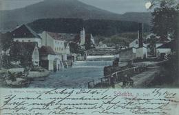 Mondscheinlitho SCHEIBBS (NÖ) - Karte Gel. 1901,Rechteck Stempel *SCHEIBBS 26.4.1901*, Gute Erhaltung - Andere