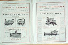 CATALOGUE- 46-MACHINES POMPES WEYHER & RICHEMOND-PANTIN-1916 - Publicités