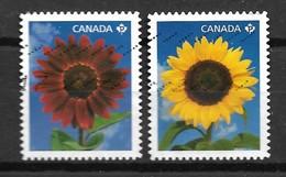 2011 Canada Complete Set Sunflowers Used/gebruikt/oblitere - 1952-.... Regering Van Elizabeth II