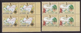1992 San Marino Saint Marin CRISTOFORO COLOMBO III 4 Serie Di 2v. MNH** In Quartina Bl.4 - Cristoforo Colombo