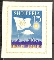 1964 Albania OLIMPIADI TOKIO  TOKYO OLYMPICS Foglietto MNH** Non Dentellato Souv. Sheet - Summer 1964: Tokyo