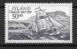 Islande 1987 N° 616 Neuf Olafsvik, Voilier - 1944-... Republique