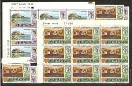 1970  1971 Jersey  DEFINITIVA DECIMALE Definitives Decimal 24 Val.: 5p MONTE ORGUEIL X12 + 50p CORTE REALE X12 MNH** - Jersey