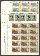 1970/1971 Jersey  DEFINITIVA DECIMALE Definitives Decimal 15 Serie Di 15v. (28/42) MNH** In Blocco Block - Jersey