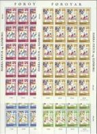 1982 1980 FAROER Faroe Danimarca Denmark BALLATA LEGGENDA 20 Serie Di 4v. In Foglio MNH** Sheet - Fiabe, Racconti Popolari & Leggende