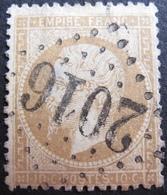 LOT R1494/152 - NAPOLEON III N°21 - GC 2016 : LEVALLOIS (Seine / Paris) ☛ INDICE 6 - 1862 Napoleon III