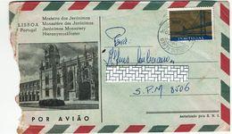 Portugal , 1967 , Militar Mail , Correio Aéreo Lisboa  Postmark , Salazar Bridge 1966 Stamp Jerónimos Monastery - Postmark Collection
