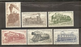 1956 Cecoslovacchia Czechoslovakia FERROVIE EUROPEE  EUROPEAN RAILWAYS  Serie Di 6v. (875/80) MNH** - Nuovi