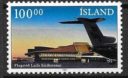 Islande 1987 N° 617 Neuf Avion à L'aéroport De Keflavik - 1944-... Republique