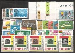 1966 Ghana ANNATA  YEAR 7 Serie Con 29v. (229/257) MNH** - Ghana (1957-...)
