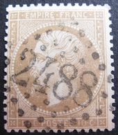 LOT R1494/154 - NAPOLEON III N°21b Bistre Brun - GC 2488 : MONTMARTRE (Paris) - 1862 Napoleon III