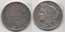 + FRANCE+ 5 FRANCS 1851 + TRES BEAU + - J. 5 Francs