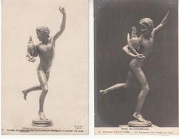 Sculpture - Alexandre Falguière - Vainqueur Au Combat De Coqs - 2CP - Nu Masculin - Esculturas