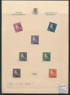 BELGIQUE POORTMAN FEUILLET DE LUXE NL NON DE TITULAIRE EFFACE COB LX3Bb - 1936-51 Poortman