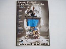 CPM  75 PREMIER FESTIVAL DES ARTS 1995 L'OPERA THEATRE De MASSY T.B.E. - Publicité