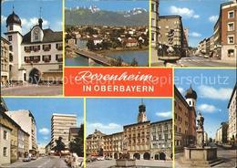 72243205 Rosenheim Bayern Brunnen Kirche Bruecke  Rosenheim - Alemania