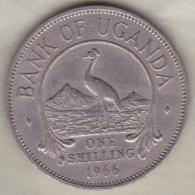 Uganda , 1 Shilling  1966 , Copper-Nickel, KM# 5 - Ouganda